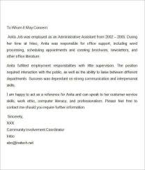 free sample recommendation letter from employer