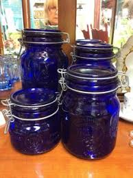 cobalt blue kitchen canisters vintage cobalt blue glass bull eye wash circa 1917 bath cup