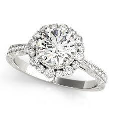 flower halo engagement ring flower halo engagement ring gold warehouse