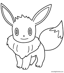 eve pokemon coloring pages images pokemon images