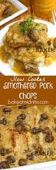 slow cooker smothered pork chops the midnight baker