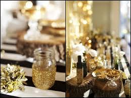 gold and white decorations