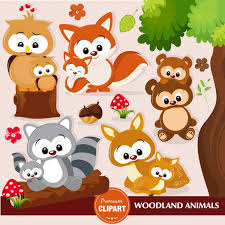 woodland animal clipart woodland baby shower clipart baby animal