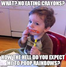 Eating Meme - eating crayons memes imgflip
