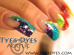 rainbow acrylic nails by tye u0027s dyes nail artists color and