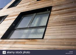 wood paneling exterior we look upwards to wooden panels on exterior walls of modern stock