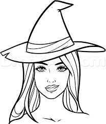 coloring excellent draw witches halloween witch step