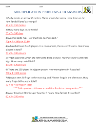 multiplication questions multiplication word problems 4th grade