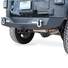 jeep rear bumper rear bumper for jeep wrangler jk 2007 2017 with d rings and led