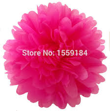 hot pink tissue paper free shipping 200pcs 4 10cm hot pink tissue paper pompoms mix