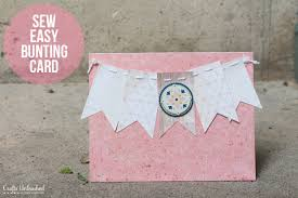 sew easy how to handmade cards with embellished buntings
