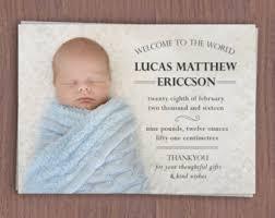 digital birth announcement card custom birth announcement