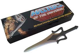 unique letter opener press release masters of the universe power letter opener the