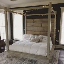 Bed Frame With Canopy Reclaimed Wood Canopy Bed White The Master Pinterest
