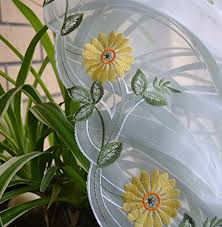 Daisy Kitchen Curtains by Uphome 1pc Pastoral Embroidered Daisy Flower Tie Up Balloon Shade