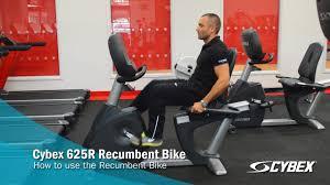 cybex 625r recumbent bike how to use youtube