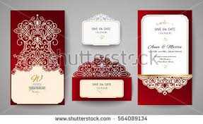 wedding wishes envelope set wedding floral invitation template laser stock vector