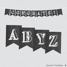 chalkboard banner with all letters and numbers printable