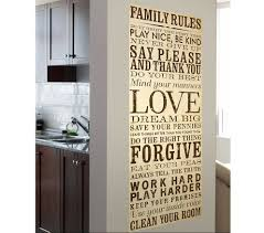 family rules canvas wall art ideas home interior u0026 exterior