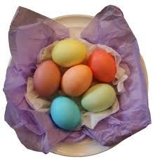 coloring dyed easter eggs