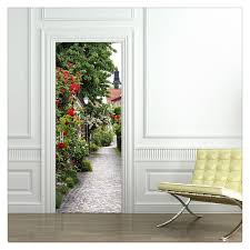 compare prices on poster imitation online shopping buy low price door stickers footpath poster pvc waterproof imitation 3d decal old wooden door wall stickers diy mural