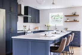 are blue cabinets trendy trendy blue cottage kitchen six walls