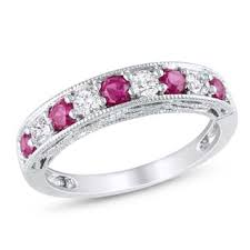 ruby wedding rings ruby wedding rings for less overstock