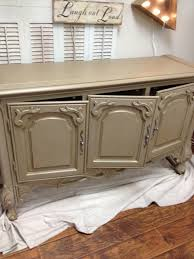 Antique Painted Sideboard Chalk Painted Buffet Gets Glazed The Treasured Home
