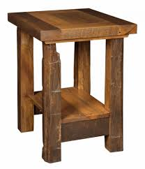 Amish End Tables by Barnwood Occasional Tables Amish Furniture Store Mankato Mn