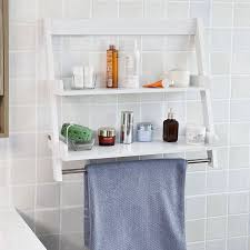 Bathroom Wall Mounted Shelves Sobuy Frg117 W White Wall Mounted Shelf Storage