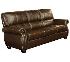 Abbyson Leather Sofa Reviews Abbyson Living Lorenzo Italian Leather Sofa Qvc