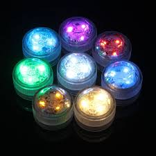 multicolor 3 led candle light waterproof submersible aquarium lamp
