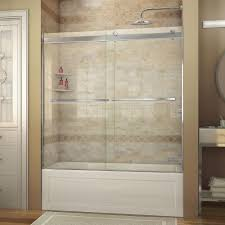 frameless bypass sliding shower doors showers the home depot essence 56 in to 60 in x 60 in semi frameless sliding