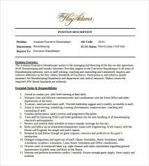 Cleaner Resume Template Assistant Executive Housekeeper Cover Letter