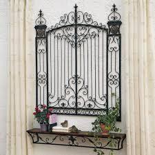 Garden Wall Decor Wrought Iron Mesmerizing Wrought Iron Gate Wall Decor Metal Garden Gate Wall
