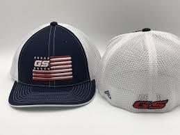 Blue White Red White Blue Flag Gs Sports Gs Sports Bat Flag Hat Navy White Red White Blue