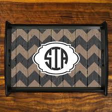 monogramed tray personalized tray monogrammed tray wooden serving tray in