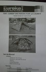 Eureka Bathtub New Eureka Individual Combat Tent Usmc Marine Individual Combat