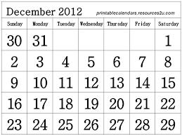 calendar 2012 free printable calendar december 2012