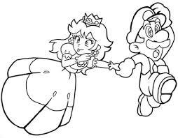 princess daisy mario coloring free printable coloring