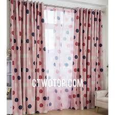 Black Polka Dot Curtains Custom Best Discount Cheap Blackout Pink And Black White Polka