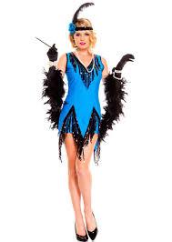 fascinating flapper costume sequin 1920s blue flapper dress black