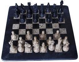 amazon com 16 inches handmade black and coral marble full chess