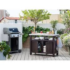 outdoor entertainment keter indoor outdoor entertainment grill bbq storage table prep