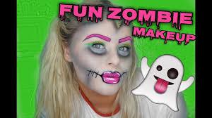 fun zombie halloween makeup tutorial 2017 sabrinanicole youtube