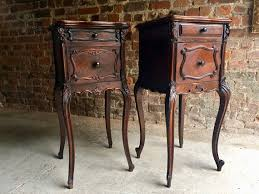Antique Marble Top Nightstand Antique French Walnut Louis Xv Style Bedside Tables With Marble