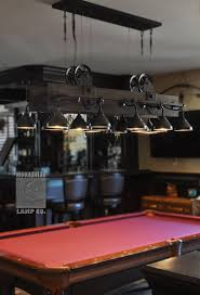 Lots Of Detail In This Amazing Pool Table Light Made Out Of Steel