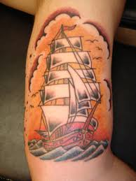 traditional ship tattoo picture