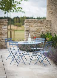 patio table with 4 chairs bistro set of table and 4 chairs dorset blue
