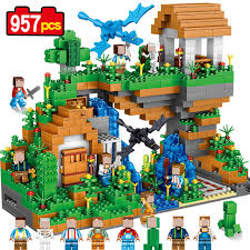 dragons for children dragons 957pcs my world water fall building blocks bricks